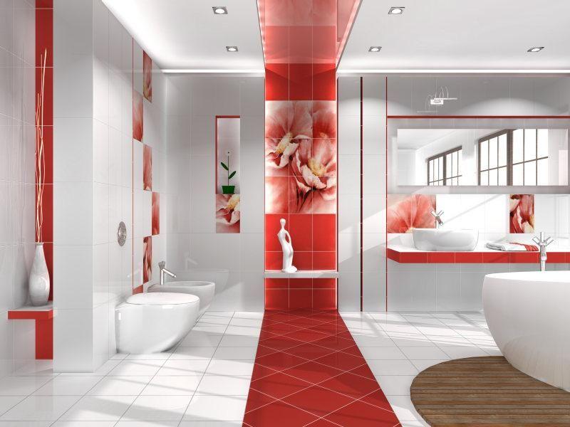 Кафельные дизайн ванной